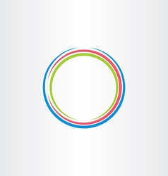 circle colorful frame icon background design vector image vector image