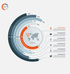 circle infographic template with 6 options vector image
