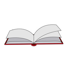 color image cartoon top view book opened vector image vector image