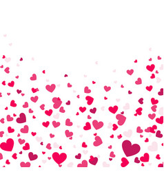 Colorful background with heart confetti vector