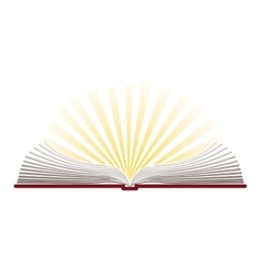 colorful silhouette with holy bible open vector image vector image