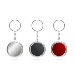 Creative of metal keychains vector