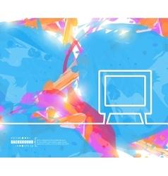 Creative tv art template vector
