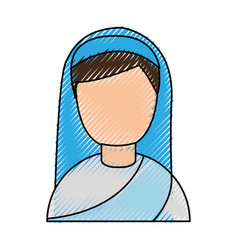 cute nun avatar character vector image