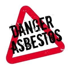 Danger asbestos rubber stamp vector