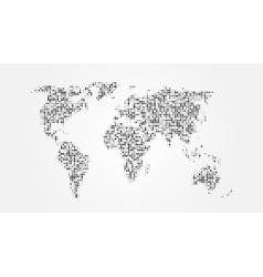 Dotted abstract world map with shadow template vector