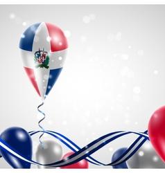 Flag of dominican republic on balloon vector