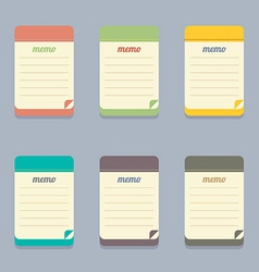 Flat Design Colorful Memo vector image