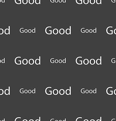 Good sign icon seamless pattern on a gray vector
