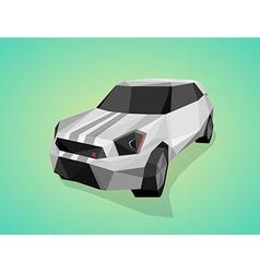 Grey sport car on green gradient background - vector