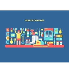 Health control design concept vector