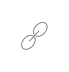 link line icon vector image