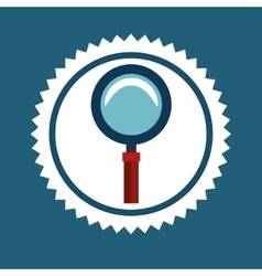 Magnifying glass or lupe vector