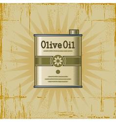 Retro Olive Oil Can vector image