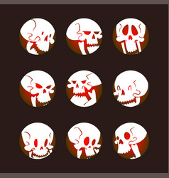 skull bones human face halloween horror crossbones vector image