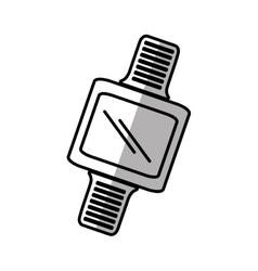 Smart watch wearable digital device shadow vector