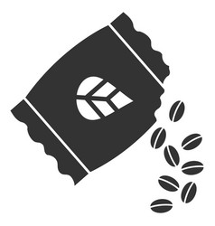 sow seed pack flat icon vector image vector image