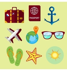 Travel summer vacation vector image vector image