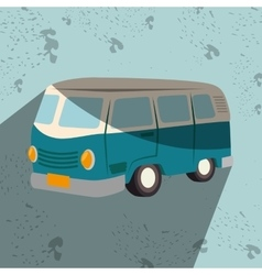 Van tourist design vector