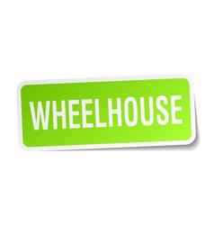 Wheelhouse square sticker on white vector