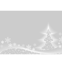 White Christmas Greeting Card vector image vector image