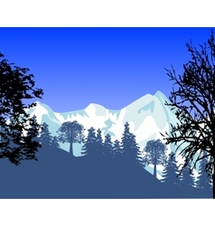 Wild landscape with mountain vector image vector image