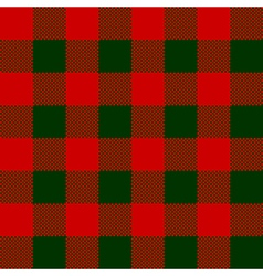 Red green check pattern seamless fabric texture vector