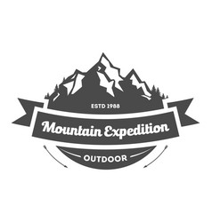 Mountain explorer vintage isolated label vector