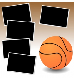 Basketball photo adventure vector