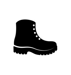 Simple black boots icon vector
