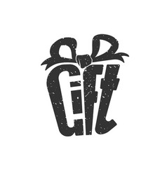 logo for gift vector image