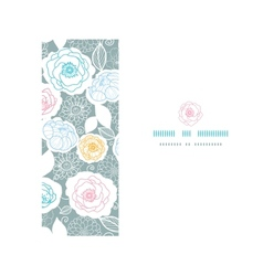 Silver and colors florals horizontal seamless vector image