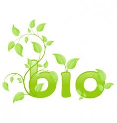 eco bio vector image