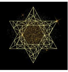 Rosh hashanah greeting card with yellow polygonal vector