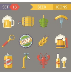 Retro Beer Alcohol Symbols vector image