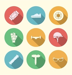 Flat colored icons for accessories for vector