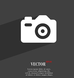Photo camera icon symbol flat modern web design vector