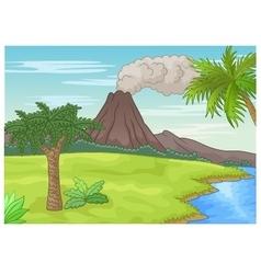 Prehistoric landscape vector