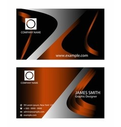 Premium business card design vector