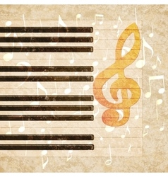 musical background piano keys and musical notes vector image