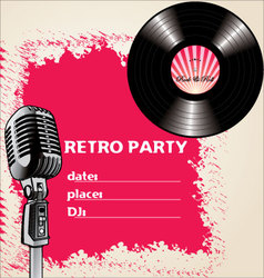 Retro party - background vector