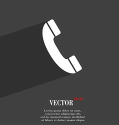 Call symbol Flat modern web design with long vector image