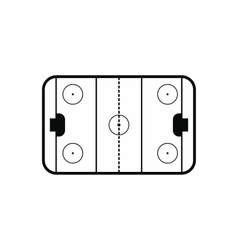 Ice hockey rink icon vector
