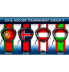 Soccer euro group f vector
