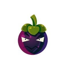 Angry passion fruit emoji vector