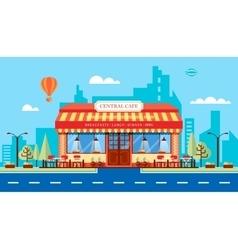 Cafe house 1 vector