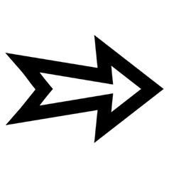 Arrow right contour icon vector