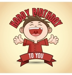 Happy birthday and kid design vector