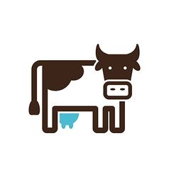 Cow icon farm animal vector
