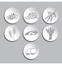 Seven species icons set vector